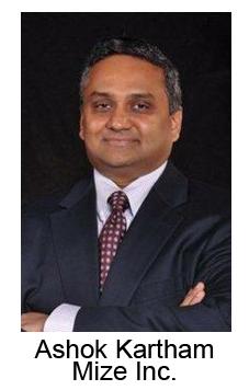 Ashok Kartham CEO Mize inc. (sells a service contract management solution)