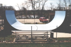 Veterans Park halfpipe