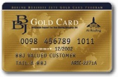 BBJ Gold Card