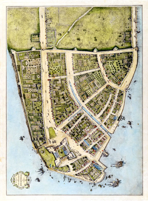 New York City, 1660 Map