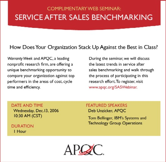 Click here to register for the APQC Webinar