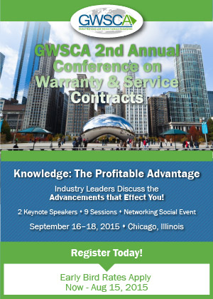 GWSCA Second Annual Conference on Warranty & Service Contracts