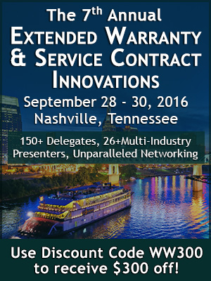 Extended Warranty Conference Overview, 22 September 2016